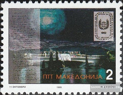 Makedonien 47 (complete Issue) Unmounted Mint / Never Hinged 1995 Dichterfestival - Macedonia