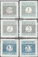 Croatia P11-P16 (complete Issue) Unmounted Mint / Never Hinged 1942 Porto Brand - Croatia