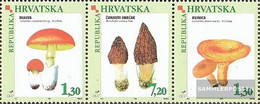 Croatia 454-456 Triple Strip (complete Issue) Unmounted Mint / Never Hinged 1998 Locals Mushrooms - Croatia