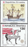 Croatia 211-212 (complete Issue) Unmounted Mint / Never Hinged 1992 Discovery America - Croatia
