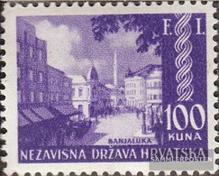 Croatia 81 (complete Issue) Unmounted Mint / Never Hinged 1942 Philately Exhibition - Croatia