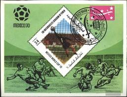 Yemen (UK) Block192 (complete Issue) Fine Used / Cancelled 1970 Football-WM '70, Mexico - Yemen