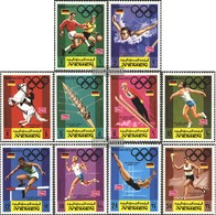 Yemen (UK) 752A-761A (complete Issue) Fine Used / Cancelled 1969 Advertisement For Olympic. Games - Yemen