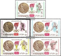 Yemen (UK) 620B-624B (complete Issue) Unmounted Mint / Never Hinged 1968 Gold Medalists `68 - Yemen