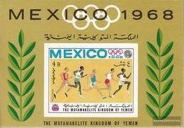 Yemen (UK) Block73b (complete Issue) Unmounted Mint / Never Hinged 1968 Olympic. Summer, Mexico - Yemen