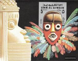 Umm Al Qaiwain Block54 (complete Issue) Unmounted Mint / Never Hinged 1972 Masks II - Umm Al-Qiwain