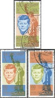 Sharjah 107A-109A (complete Issue) Fine Used / Cancelled 1964 Death John F. Kennedy - Sharjah