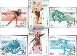 Laos 1210-1215 (complete Issue) Fine Used / Cancelled 1990 Olympics Winter Games '92 - Laos