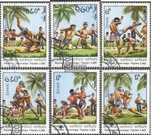 Laos 529-534 (complete Issue) Fine Used / Cancelled 1982 Laotian Martial Arts - Laos