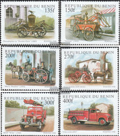 Benin 1010-1015 (complete Issue) Unmounted Mint / Never Hinged 1998 Old Fire Truck - Benin (1892-1894)