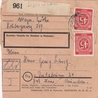 BiZone Paketkarte 1948: Sprötze Nach Putzbrunn - Zone AAS