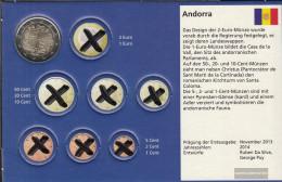 Andorra And 9 2014 Stgl./unzirkuliert 2014 2 Euro Kursmünze - Andorra