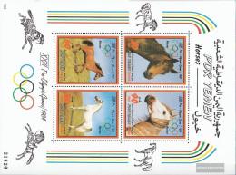 South Yemen (democrat. Republic.) Block11 (complete Issue) Unmounted Mint / Never Hinged 1983 Olympics Summer '84 - Yemen