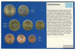 Greece 2002 Stgl./unzirkuliert Kursmünzensatz Mixed Without/with Geheimzeichen 2002 Euro-first Edition - Grèce