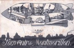 86 - Vienne - Souvenir De MONTMORILLON - Ballon Dirigeable - Rare - Montmorillon