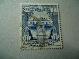 BURMA   USED   PERFINS STAMPS - Burma (...-1947)