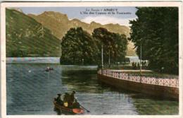 31ksth 918 CPA - ANNECY - L'ILE DES CYGNES ET LA TOURNETTE - Annecy