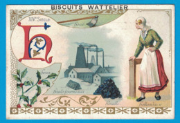 IMAGE BISCUITS DE LUXE J. WATTELIER LA FERTE-BERNARD / H HOUE HOUX HAUTS FOURNEAUX HOUILLE HOLLANDE XIVe SIECLE - Confiserie & Biscuits