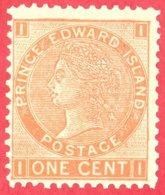 Canada  Prince Edward Island # 11 Scott /Unisafe - Mint N/H F - 1 Cent - Queen Victoria - Dated 1872 / I.P.E - Prince Edward Island