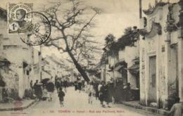 TONKIN Hanoi Rue Des Pavillons Noirs + Beau Timbre 1c  Indochine RV - Viêt-Nam
