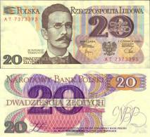 Poland 149b Uncirculated 1982 20 Zloty - Polonia