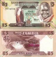 Sambia Pick-number: 25d Uncirculated 1988 5 Kwacha Eagles - Zambia