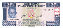 Guinea Pick-number: 28a Uncirculated 1985 25 Sylis - Guinee