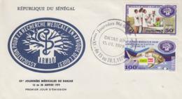 Enveloppe  FDC  1er  Jour   SENEGAL   Journées  Médicales  De  DAKAR   1979 - Sénégal (1960-...)