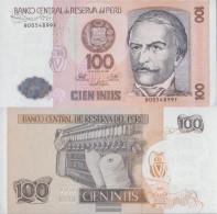 Peru Pick-number: 133 Uncirculated 1987 100 Intis - Peru