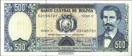 Bolivia Pick-number: 166a Uncirculated 1981 500 Pesos Boliv. - Bolivië