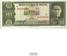 Bolivia Pick-number: 154a Uncirculated 1962 10 Pesos Boliv. - Bolivië