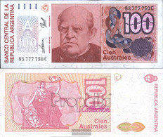 Argentina Pick-number: 327c Uncirculated 1985 100 Australes - Argentina