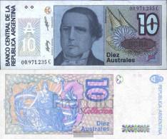 Argentina Pick-number: 325b Uncirculated 1986 10 Australes - Argentina