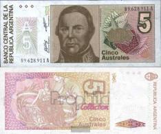 Argentina Pick-number: 324b Uncirculated 1985 5 Australes - Argentina