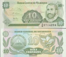 Nicaragua Pick-number: 169a Uncirculated 1991 10 Centavos - Nicaragua