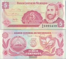 Nicaragua Pick-number: 168a Uncirculated 1991 5 Centavos - Nicaragua