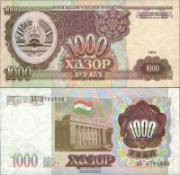 Tajikistan Pick-number: 9a Uncirculated 1994 1.000 Rubles - Tajikistan