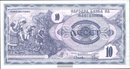 Makedonien Pick-number: 1a Uncirculated 1992 10 Denar - Macedonië