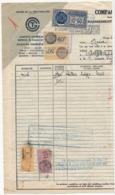FISCAUX FRANCE 6F Connaissements + 15c + TUNISIE 50c + 60c Fiscal + 10F60 Connaissements - Cie Transatlantique 1941 - Fiscaux