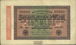 German Empire Pick-number: 84j WZ. Shaft Uncirculated 1923 20.000 Mark - 20000 Mark