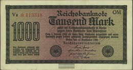 German Empire Rosenbg: 75q, Watermark Shaft 6stellige Kontrollnummer Used (III) 1922 1.000 Mark - 1000 Mark