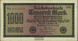 German Empire Rosenbg: 75q, Watermark Shaft 6stellige Kontrollnummer Used (III) 1922 1.000 Mark - [ 3] 1918-1933 : Repubblica  Di Weimar