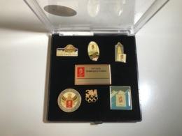 Coffret Pin's 3M - Jeux Olympiques D'Albertville 1992 - 1e Serie - Sports D'hiver
