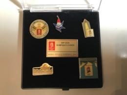 Coffret Pin's 3M - Jeux Olympiques D'Albertville 1992 - 2e Serie - Sports D'hiver