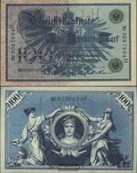 German Empire Rosenbg: 34, Green Seal Used (III) 1908 100 Mark - [ 2] 1871-1918 : German Empire