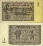 German Empire RosbgNr: 166b, Empire Printing 8-stellige Kontrollnummer Uncirculated 1937 1 Rentenmark - [ 3] 1918-1933 : República De Weimar