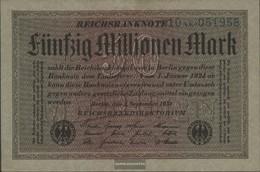 German Empire Rosenbg: 108b, Watermark Cabbage 6stellige Kontrollnummer Used (III) 1923 50 Million Mark - [ 3] 1918-1933 : Weimar Republic
