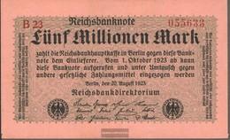 German Empire Rosenbg: 104b, Privatfirmendruck Red Firmenzeichen Used (III) 1923 5 Million Mark - 5 Millionen Mark