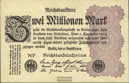 German Empire Rosenbg: 103d, Watermark Grid With 8 Used (III) 1923 2 Million Mark - [ 3] 1918-1933 : Repubblica  Di Weimar