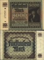 German Empire Rosenbg: 80a, Watermark Hakensterne Used (III) 1922 5.000 Mark - [ 3] 1918-1933 : Repubblica  Di Weimar